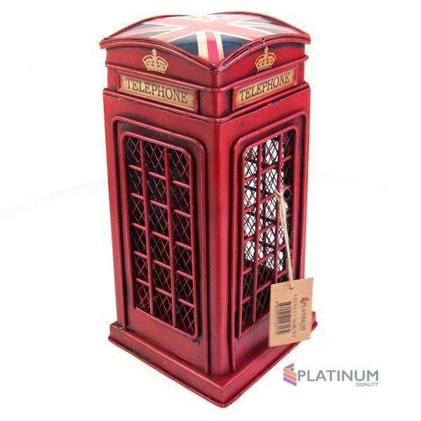 1410B-1414 Копилка Телефонная будка, британский флаг на крыше